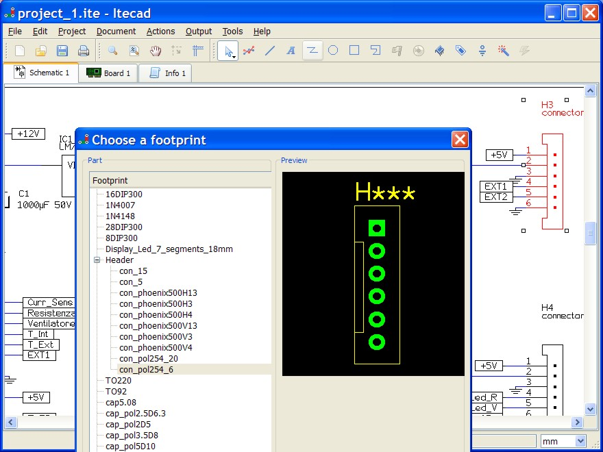 Screenshots - ITECAD, the Open Source Schematic Capture & PCB layout